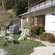 掛川市 T寺 池と石組庭園